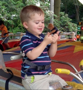 It only took a carnival car ride to bring it out of him… we should have known.