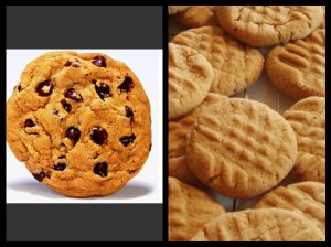 I swear the cookies I bought  looked like the one on the left.