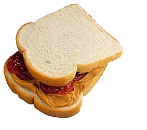 And for my next trick, PB&J for dinner!
