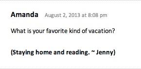 Bloggess comment