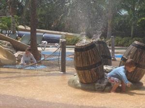 Wreaking havoc in the water park