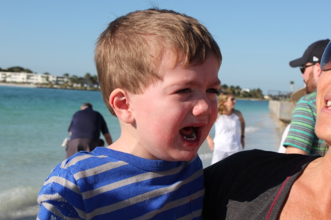 Sand in the eyes? Appropriate crying.