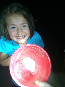 Hunting for Ghost Crabs at night… and trapping them. Mwah ha ha!