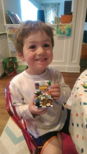 Endless supply of Legos at his New House